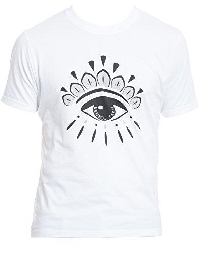 kenzo-mens-f665ts0494yq01-white-black-cotton-t-shirt