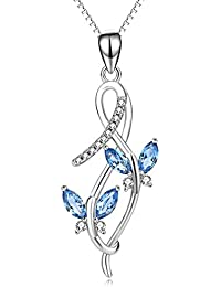 Butterfly Necklace Sterling Silver Infinity Butterfly Pendant Necklace Jewellery for Women,Girls