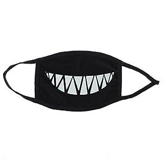 ROSENICE Mundmaske Unisex Gesichtsmaske Antistaub mit Zähne Leuchtende