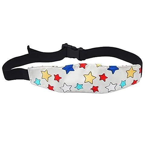 hysagtek Baby Kinderwagen Autositz Head Support Band Verstellbarer Gurt für Reisen Schlaf Nap (Sterne)