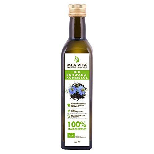 MeaVita Bio Schwarzkümmelöl, kaltgepresst, 1er Pack (1 x 500 ml)
