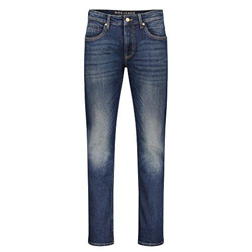 MAC Herren Loose Fit Jeans Arne Pipe H688 darkblue vintag