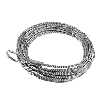 D DOLITY 1 Stück Seilwinde Seil Wohnmobilausstattung Silber farbe Verhinderung für ATV, UTV