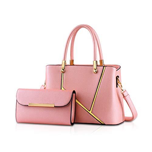 NICOLE&DORIS Frauen Handtaschen Umhängetaschen 2 Stück Handtaschen für Damen Schultertaschen einkaufstaschen - Nicole 2 Stück