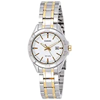 Casio Women's White Dial Stainless Steel Analog Watch - LTP-1308SG-7AVDF