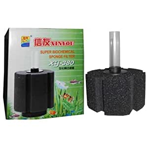 Colourful aquarium xy 380 big size bio sponge filter for for Amazon fish tank filter