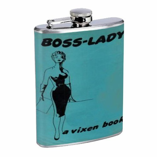 Boss Lady Vintage Vixen Woman Flask 8oz Stainless Steel D-011 by Perfection In Style