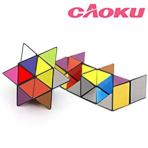 EFG Infinity cAoku 2017 Newest Magic Unlimited Fidget Cube with Triangular Accessory Inside Stress Anxiety Relief Toy, Multi, Star