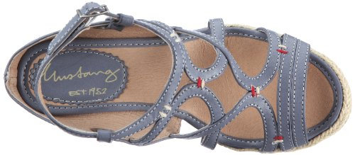 Mustang Damen 1092803 Damen Sandalen/Fashion-Sandalen Blau (blau 8)