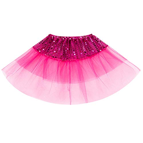 SUCES Mädchen Ballett Tutu Kinder Tanzabnutzung Prinzessin Dress up Cosplay Karneval Kostüm Party Rock Tüllrock Petticoat Kurze Minirock Festlich - Tanz Kostüm Dress Up