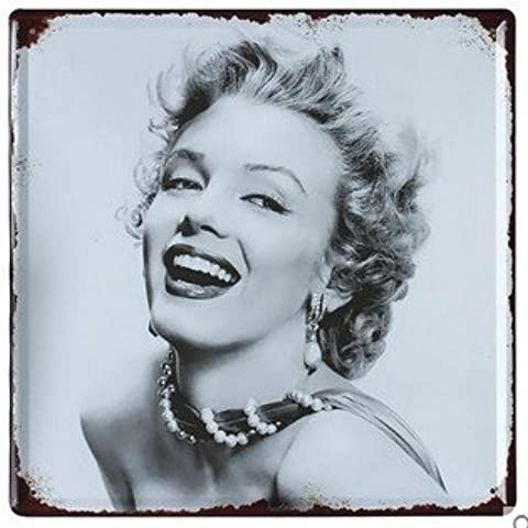 Cartel de chapa Placa metal tin sign retro nostálgico metalicas Marilyn Monroe Atractivo