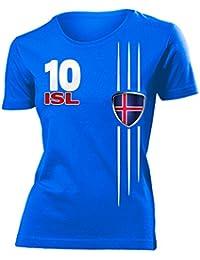 ISLAND FANSHIRT - Damen T-Shirt Gr.S bis XXL