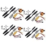 Robotbanao A2212 1000Kv Outrunner Brushless Motor And 30A Esc Electric Speed Controller For Rc Aircraft Plane (Set Of 4 Piece