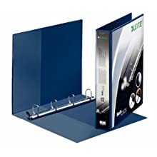 Leitz 4 Ring Binder, Holds up to 280 Sheets, SoftClick Range, 51 mm Spine, 42020035 - A4, Blue