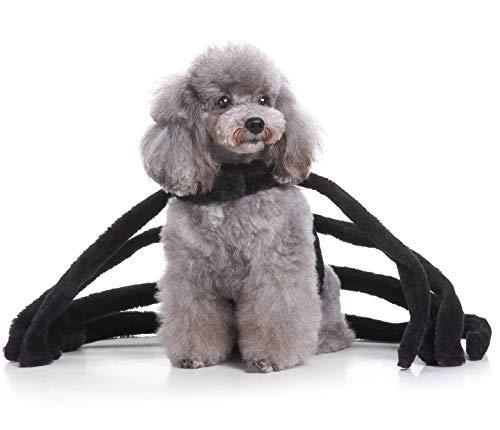 LBX Pet Halloween Spider Set Gestrickte Polyester-Material Schwarz Langlebig Leicht Zu Reinigen Weihnachtliche Lustige ()