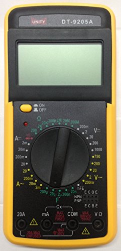 Branded UNITY Digital Multimeter DT9205A with Capacitance Current Voltage Resistance  available at amazon for Rs.499
