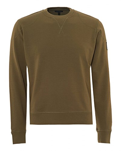 Belstaff Jefferson Loop-Back Cotton Sweatshirt Green for sale  Delivered anywhere in Ireland