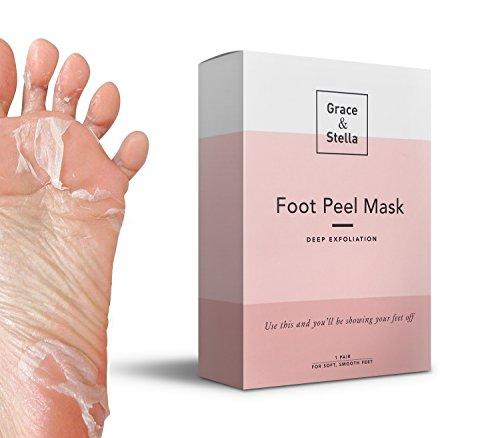 Maschera per il piede esfoliazione pedicure | per i piedi morbidi lisci del bambino, la pelle secca, i talloni di riparazione, il dispositivo di rimozione del callo (originale, 1 paio)