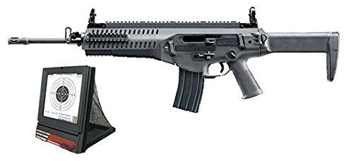 SET: Softair Gewehr Beretta ARX160 Advanced AEG elektrisch unter 0,5 Joule 6mm 7651 + G8DS® Softair / Airsoft Target mit Netz - mobile Zieleinrichtung mit Kugelfang