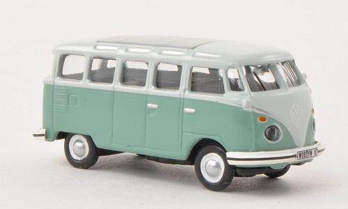 Preisvergleich Produktbild VW T1 Samba, grau-grün/hell-grau , Modellauto, Fertigmodell, Schuco 1:87