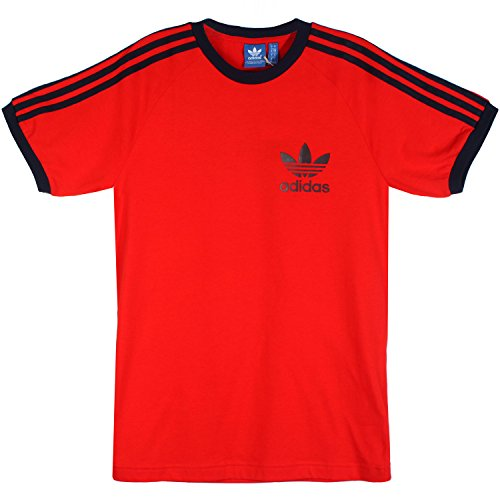 Adidas T-Shirt Men - SPORT ESS TEE - Red, Größe:M -