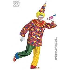 WIDMANN Widman - Disfraz de payaso de circo adultos, talla 54-56 (W3158-XL)