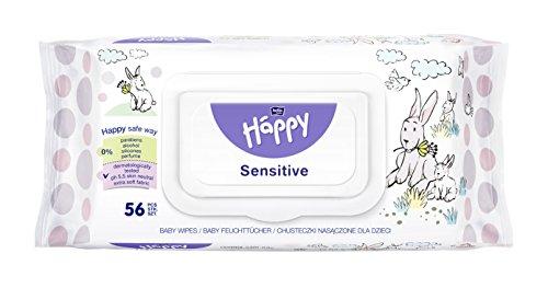 Bella Baby Happy Feuchttücher Sensitive mit Klickverschluss, 1er Pack (1 x 56 Stück)