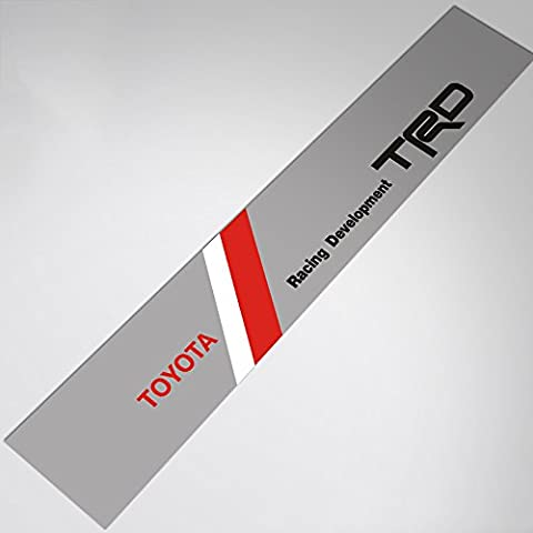 Demupai Front Windshield Banner Decal Vinyl Car Stickers for TRD Racing Development (Silver
