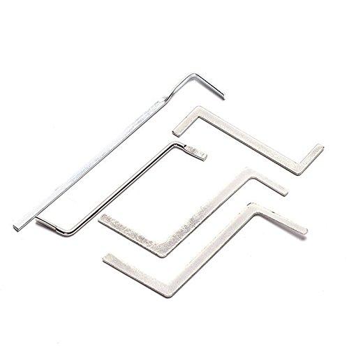 5x Schlosser Werkzeuge zweireihig Tension Werkzeug Edelstahl Lock Pick Tools