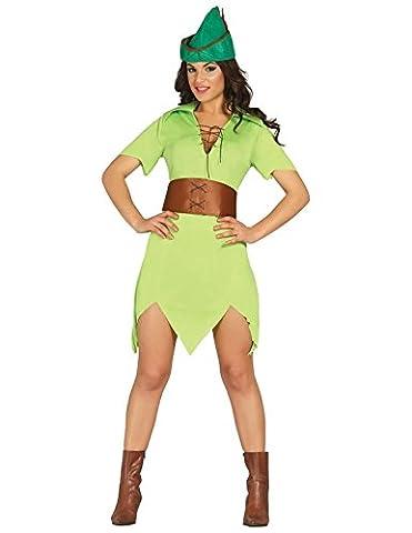 Weiblicher Robin Hood, Erwachsene, Grösse XS-S (Weiblich Peter Pan Kostüm)