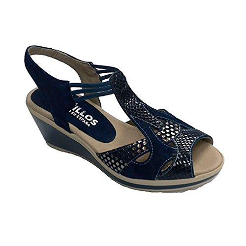 Crocodile sandali stampa donna Pitillos blu navy taille 38