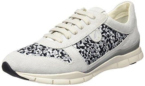 Geox Sukie A, Sneakers Basses Femme Blanc Cassé (Off White/black)