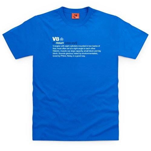 PistonHeads V8 Noun T-Shirt, Herren Royalblau