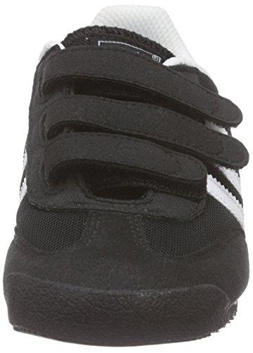 adidas Dragon Cf, Scarpe da Ginnastica Basse Unisex – Bambini Nero (Core Black/Ftwr White/Core Black)