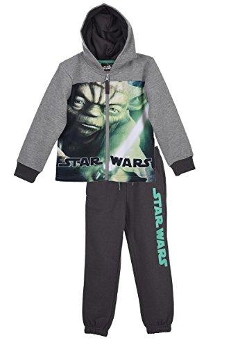 STAR WARS tuta sportiva da bambino tuta da jogging per ragazzi e ragazze con motivo Star Wars Grau (1055) 6 anni