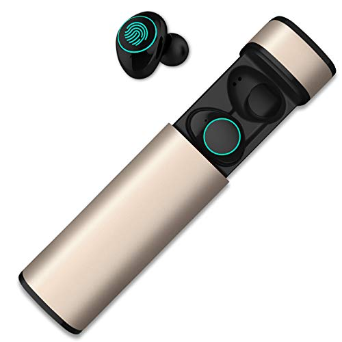 HolyHigh Bluetooth Kopfhörer in Ear Bluetooth Headset Stereo-Minikopfhörer mit Ladekästchen und integriertem Mikrofon für Android und iPhone … thumbnail