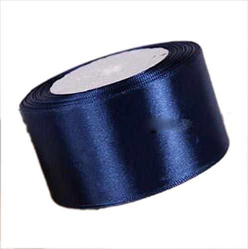 22m blaues Polyester-Satin-Gewebeband Hochzeit Party Dekoration Kuchen Wrap Schleifen DIY Zubehör, Polyester, 50 mm, Einheitsgröße