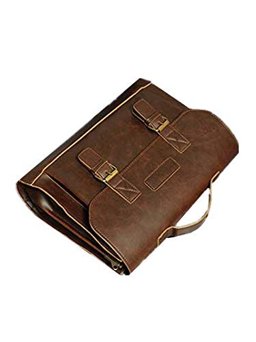PANGUN Retro Men Bag Pu Leder Männerhand Taschen Casual Business Laptop Bag Messenger Taschen Büro Tasche-Brown