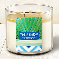 Bath & Body Works VANILLA BLOSSOM 3-Wick Candle 14.5 OZ by BATH & BODY WORK