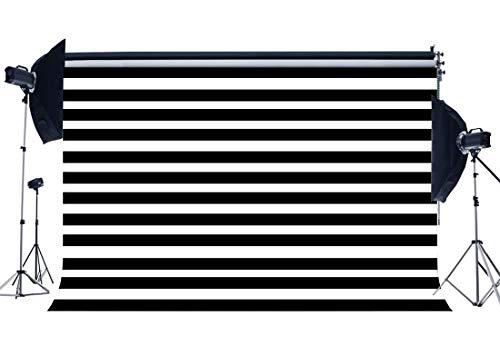 GzHQ Schwarzweiss-Streifen-Tapeten-Hintergrund 9X6FT Vinyl-Babyparty-Hintergründe Hochzeit Kinder Geburtstagstorte Smash Dessert Tabelle Papier Fotografie Hintergrund Fotostudio Requisiten YX961 (Hochzeit Dessert Tabellen)