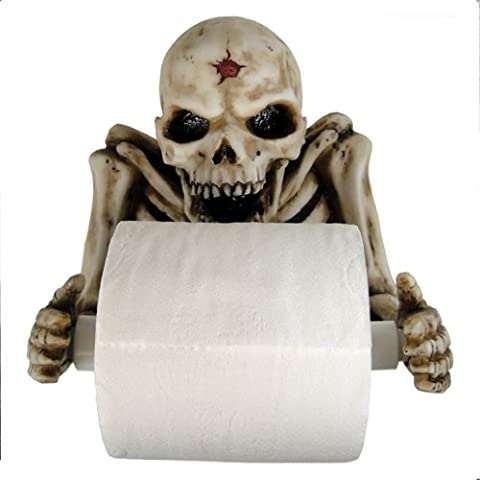 Skeleton Toilet Roll Paper Holder 21cm - Nemesis Now