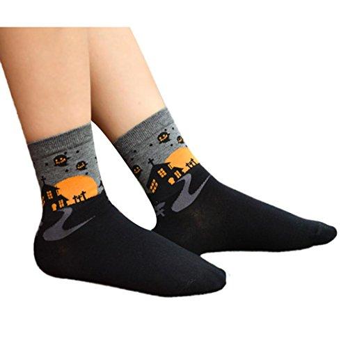 Halloween Socken, Zolimx 3D Cartoon Liebhaber Socken aus Baumwolle (Cartoon Grabsteine)