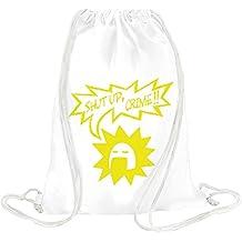 Shut Up Crime Drawstring bag