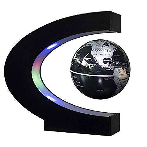 ZNN Floating Globe LED Lights - Globales 360 ° Dekorationslicht C-förmige Anti-Schwerkraftsuspendierung Weltkarte Geschenke für Kinder Schreibtischdekoration Kultur