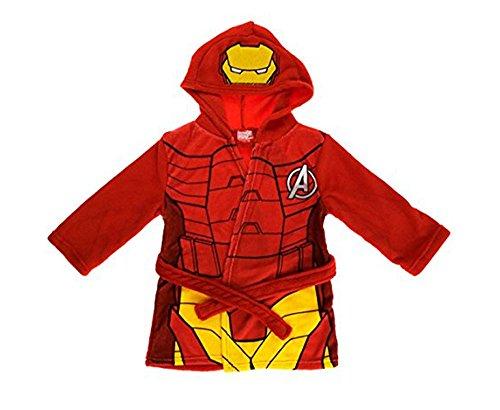 HPrice Jungen Bademantel Gr. 2-3 Jahre, Iron Man Red