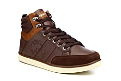 Sparx Mens Tan Synthetic Sneakers (SX0303G) - 9 UK