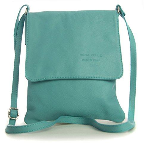 Big Handbag Shop - Borsa a tracolla donna Blu (Baby Blu)