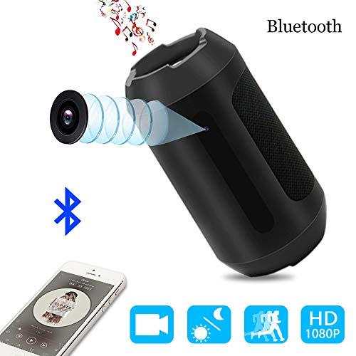 Mini Kamera 1080P Bluetooth Lautsprecher Kamera Nanny Video Cam Sicherheit für Haus und Büro mit Bewegungserkennung,Nachtsicht MEHRWEG