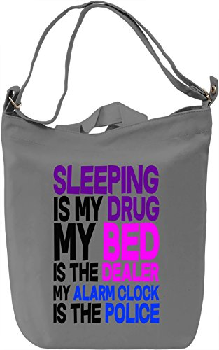 Slogan Leinwand Tagestasche Canvas Day Bag| 100% Premium Cotton Canvas| DTG Printing| (Cinderella Sleeping Bag)