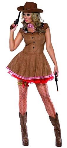 SMIFFY'S da donna Sexy Cowgirl Cowboy & indiani Wild West Western Pistolero sceriffo per Costume adulto